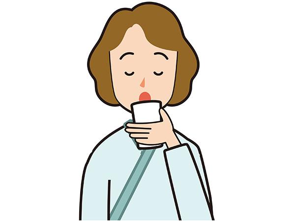 【画像】胃の中をきれいにする薬を飲むイラスト